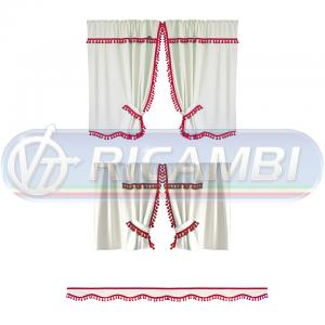 TENDE NEW DREAM CAB. NORM. BEIGE FRANGIA ROSSA
